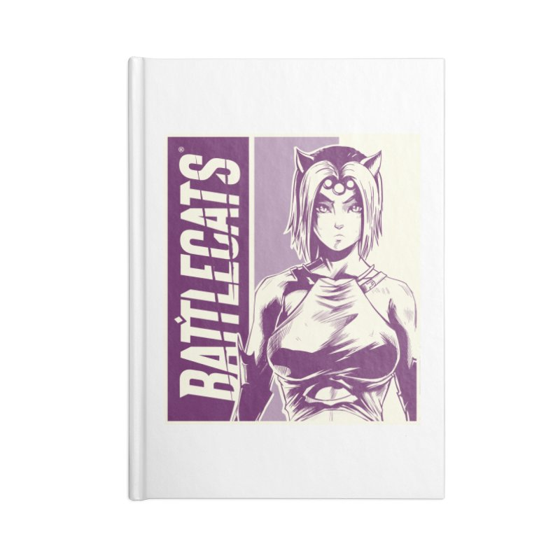 Battlecats - Vaela Accessories Lined Journal Notebook by Mad Cave Studios's Artist Shop