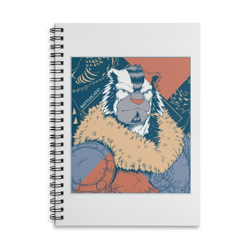 Battlecats - Kelthan - Pop Art Accessories Lined Spiral Notebook by Mad Cave Studios's Artist Shop