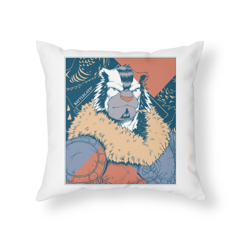 Battlecats - Kelthan - Pop Art Home Throw Pillow by Mad Cave Studios's Artist Shop