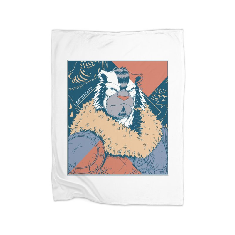 Battlecats - Kelthan - Pop Art Home Fleece Blanket Blanket by Mad Cave Studios's Artist Shop