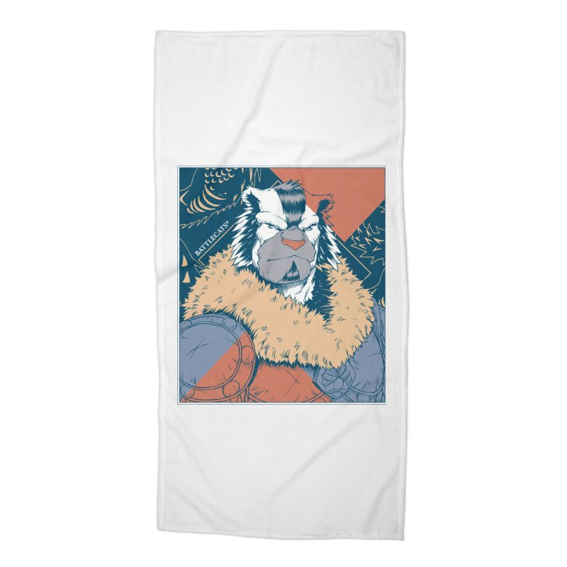 Battlecats - Kelthan - Pop Art Accessories Beach Towel by Mad Cave Studios's Artist Shop