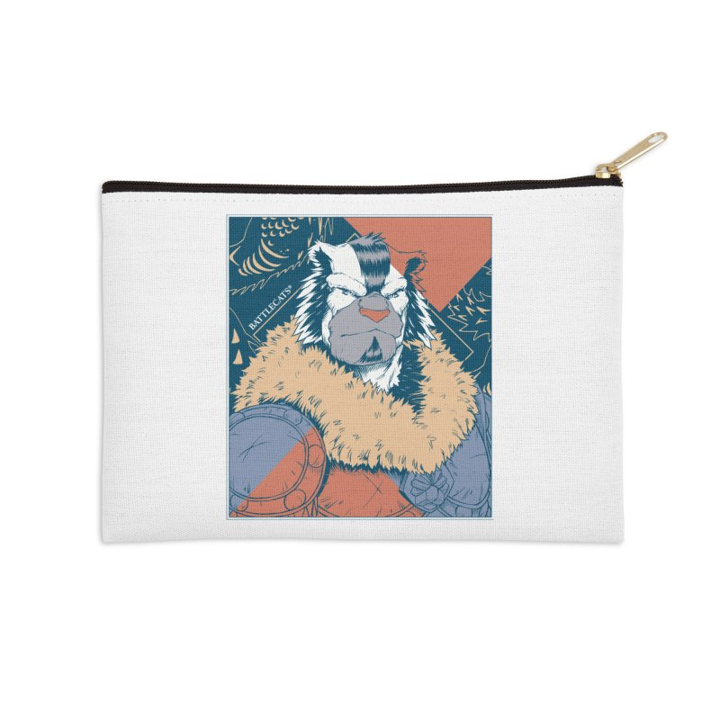 Battlecats - Kelthan - Pop Art Accessories Zip Pouch by Mad Cave Studios's Artist Shop