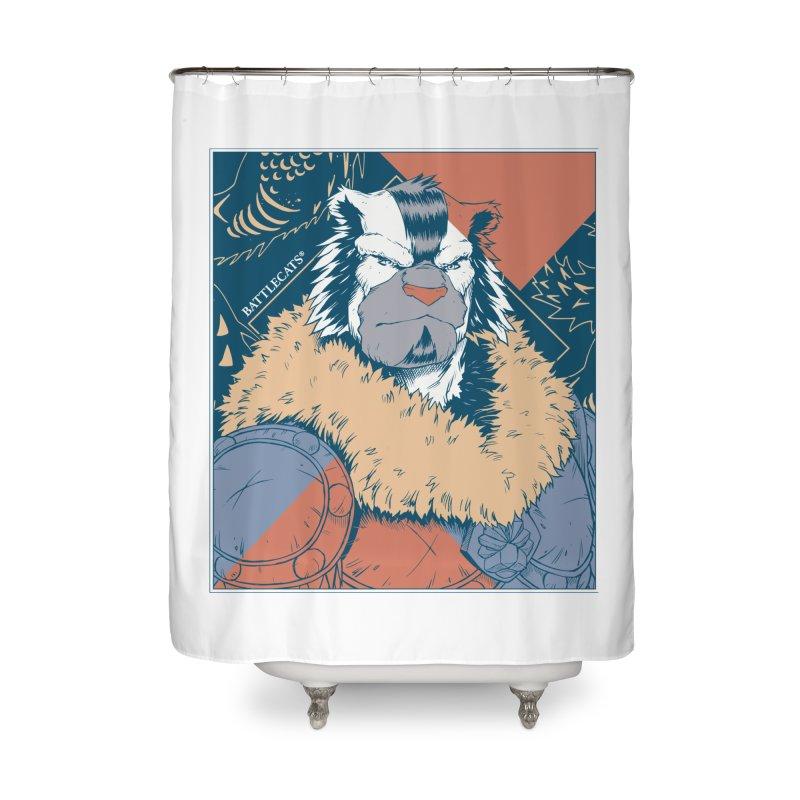 Battlecats - Kelthan - Pop Art Home Shower Curtain by Mad Cave Studios's Artist Shop