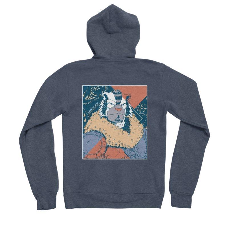 Battlecats - Kelthan - Pop Art Men's Sponge Fleece Zip-Up Hoody by MadCaveStudios's Artist Shop