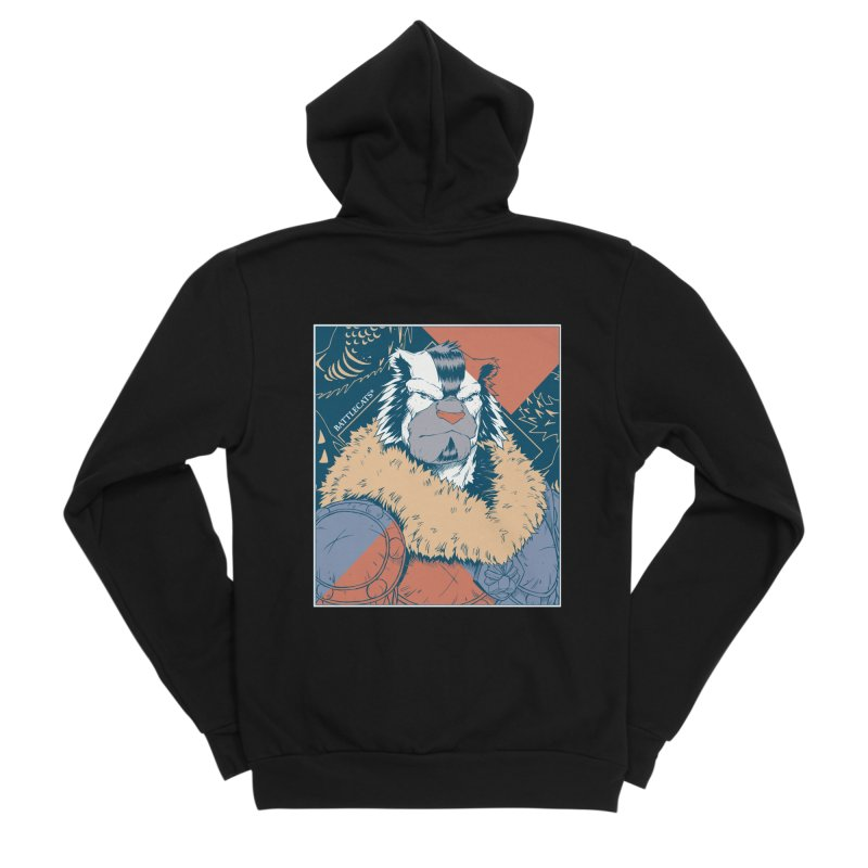 Battlecats - Kelthan - Pop Art Men's Sponge Fleece Zip-Up Hoody by Mad Cave Studios's Artist Shop