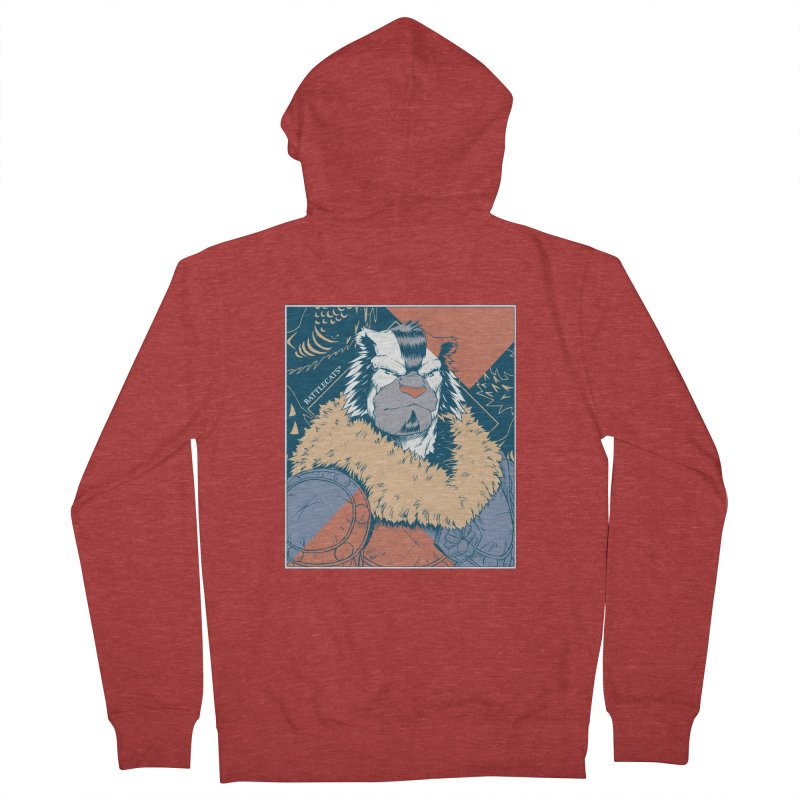 Battlecats - Kelthan - Pop Art Men's French Terry Zip-Up Hoody by Mad Cave Studios's Artist Shop