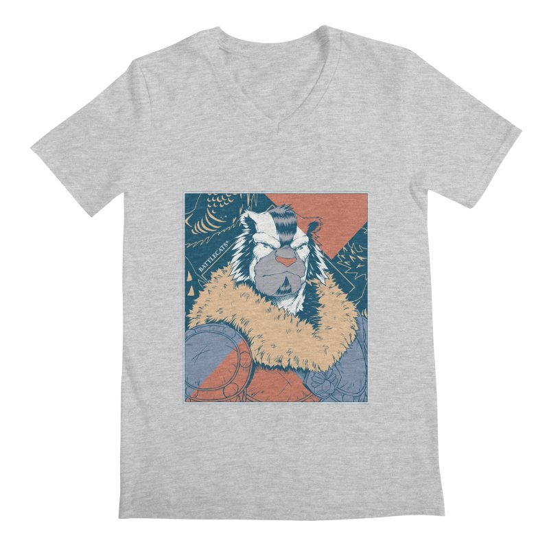 Battlecats - Kelthan - Pop Art Men's Regular V-Neck by Mad Cave Studios's Artist Shop