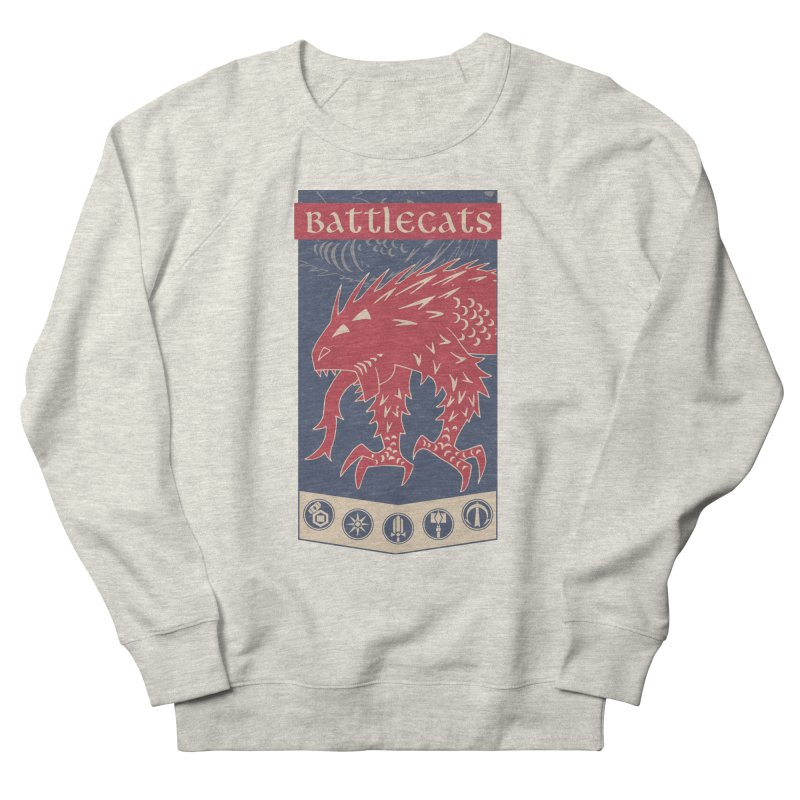 Battlecats - The Dire Beast Men's French Terry Sweatshirt by MadCaveStudios's Artist Shop