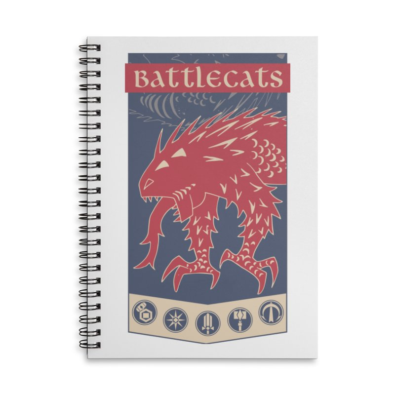 Battlecats - The Dire Beast Accessories Lined Spiral Notebook by Mad Cave Studios's Artist Shop