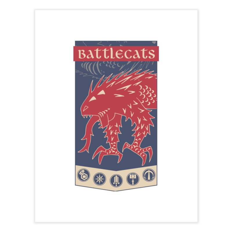 Battlecats - The Dire Beast Home Fine Art Print by Mad Cave Studios's Artist Shop
