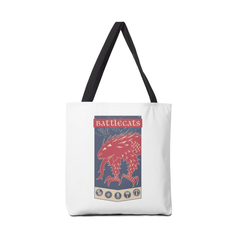 Battlecats - The Dire Beast Accessories Tote Bag Bag by Mad Cave Studios's Artist Shop