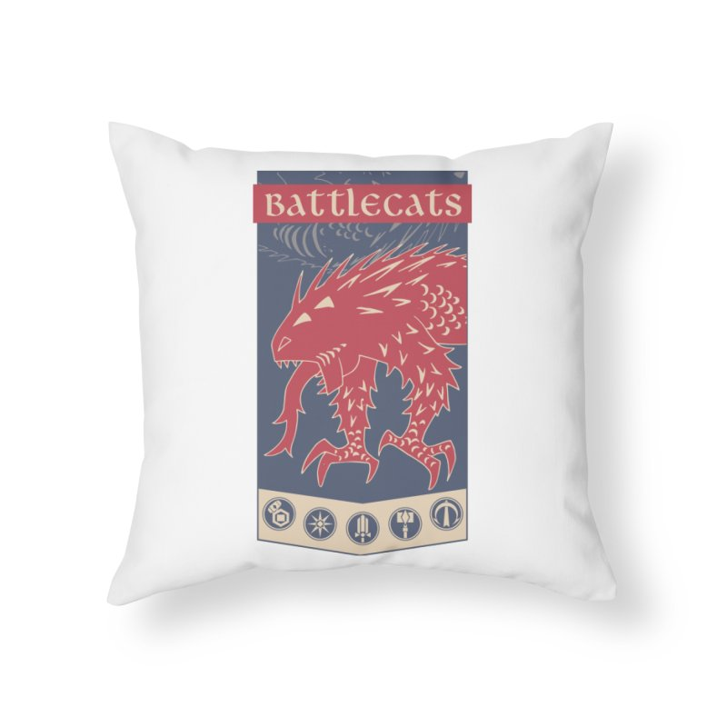 Battlecats - The Dire Beast Home Throw Pillow by Mad Cave Studios's Artist Shop