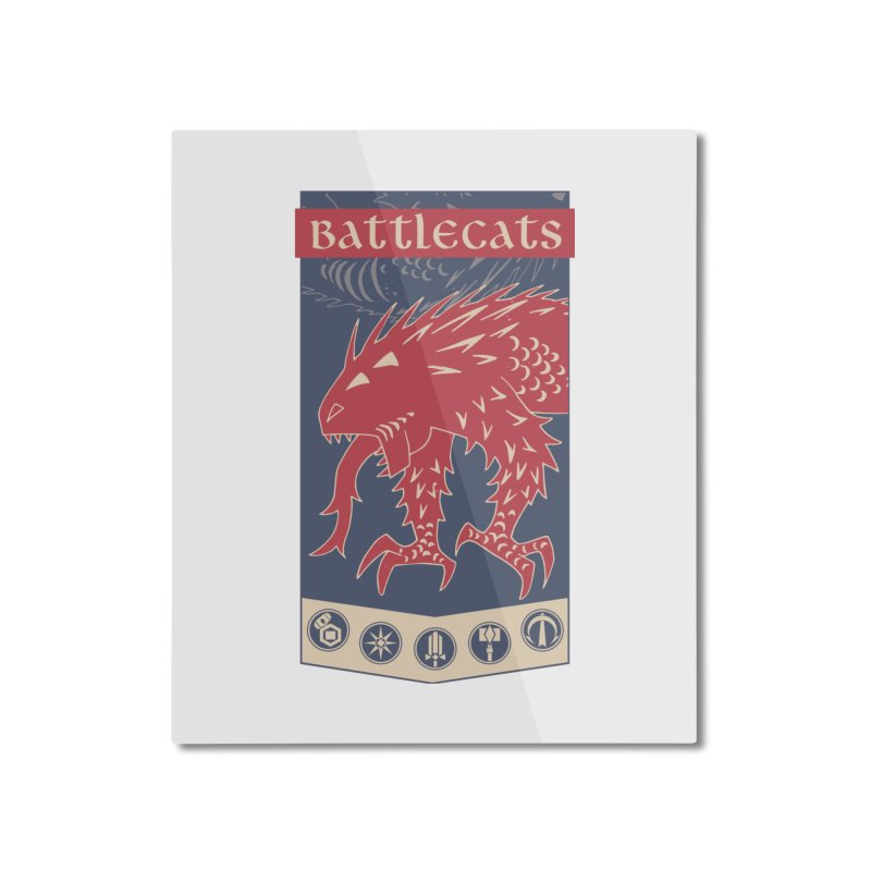 Battlecats - The Dire Beast Home Mounted Aluminum Print by Mad Cave Studios's Artist Shop