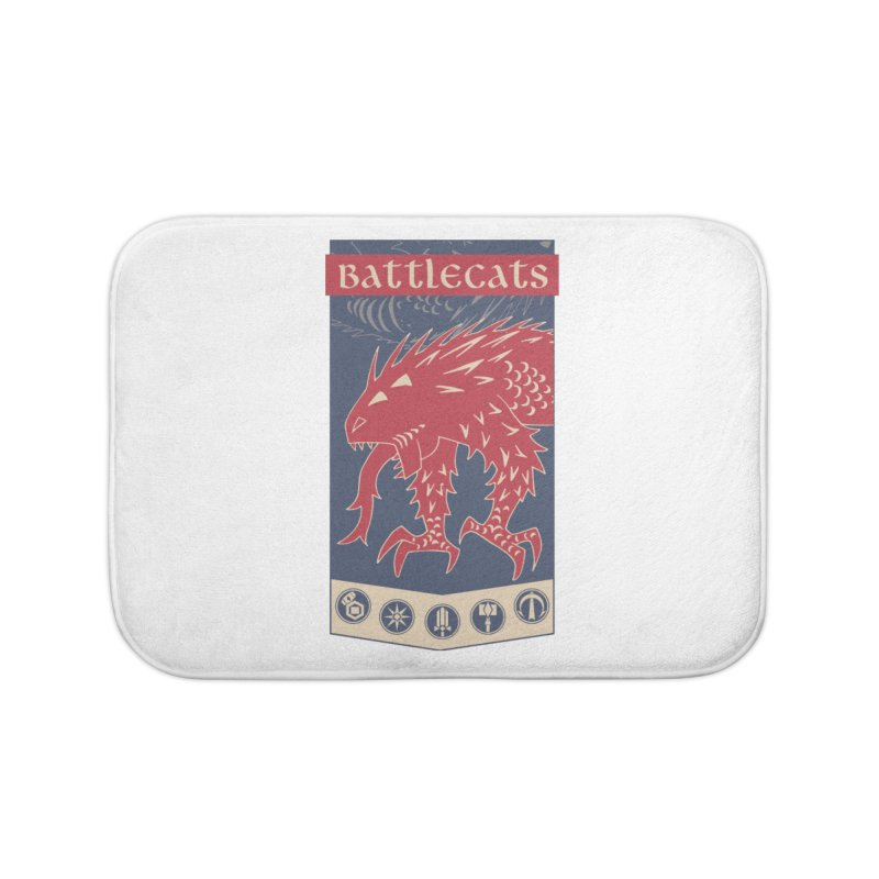 Battlecats - The Dire Beast Home Bath Mat by Mad Cave Studios's Artist Shop