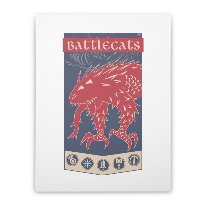 Battlecats - The Dire Beast Home Stretched Canvas by Mad Cave Studios's Artist Shop