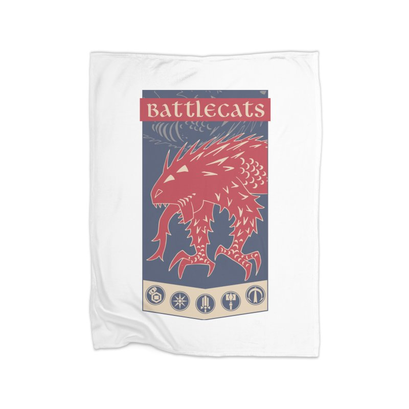 Battlecats - The Dire Beast Home Fleece Blanket Blanket by Mad Cave Studios's Artist Shop