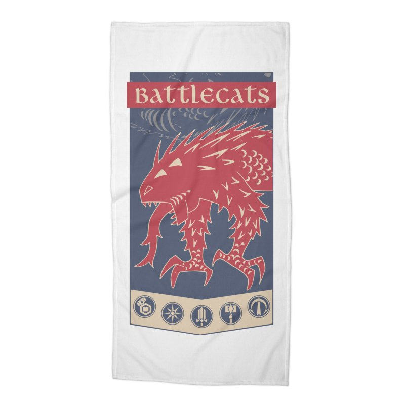 Battlecats - The Dire Beast Accessories Beach Towel by Mad Cave Studios's Artist Shop