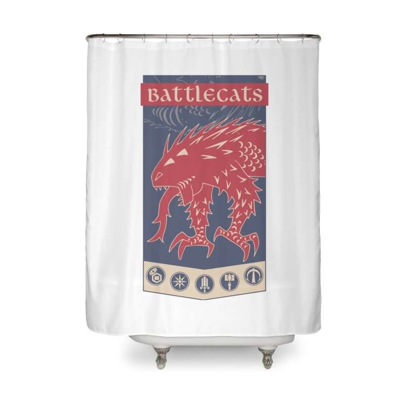 Battlecats - The Dire Beast Home Shower Curtain by Mad Cave Studios's Artist Shop