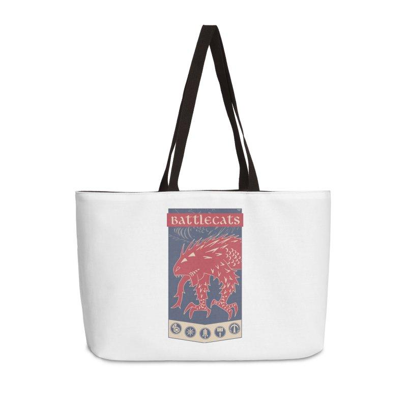 Battlecats - The Dire Beast Accessories Weekender Bag Bag by Mad Cave Studios's Artist Shop