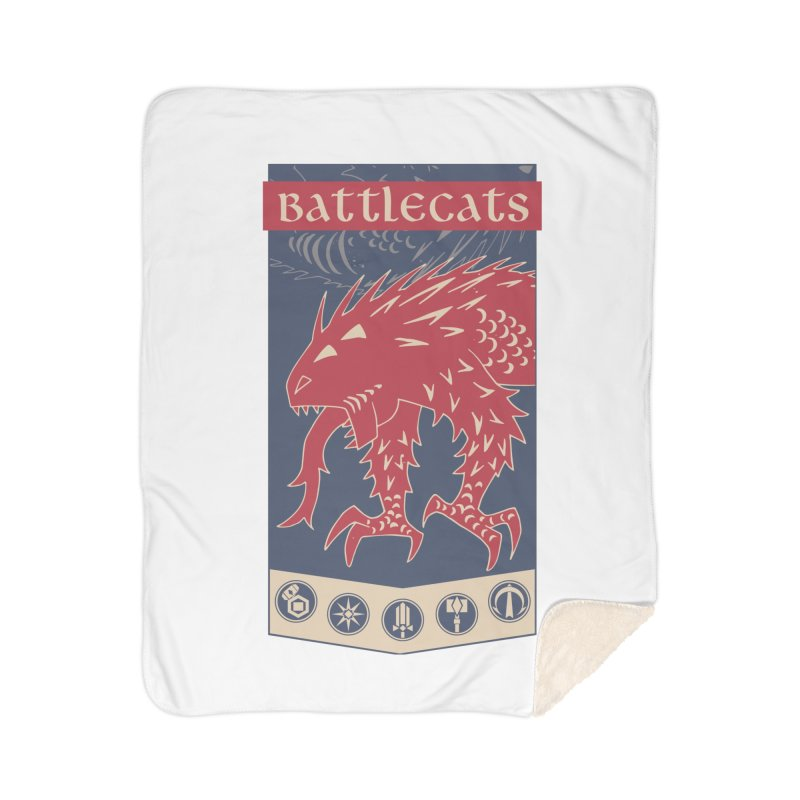 Battlecats - The Dire Beast Home Sherpa Blanket Blanket by Mad Cave Studios's Artist Shop