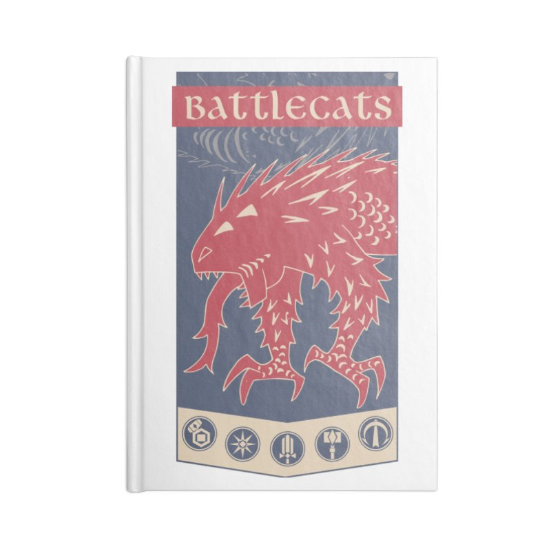 Battlecats - The Dire Beast Accessories Lined Journal Notebook by Mad Cave Studios's Artist Shop