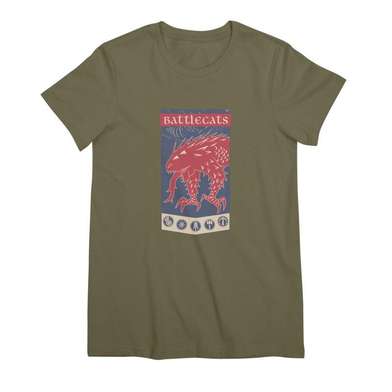 Battlecats - The Dire Beast Women's Premium T-Shirt by Mad Cave Studios's Artist Shop
