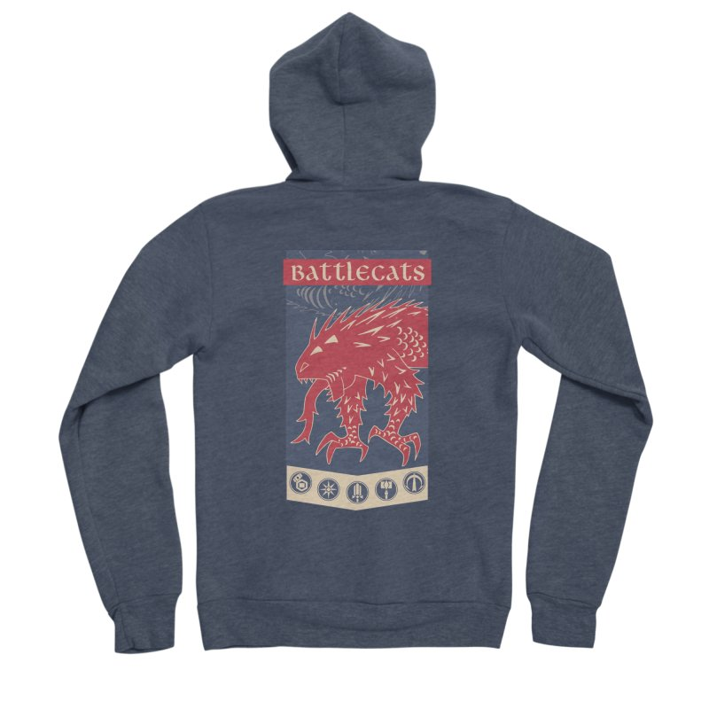 Battlecats - The Dire Beast Men's Sponge Fleece Zip-Up Hoody by Mad Cave Studios's Artist Shop