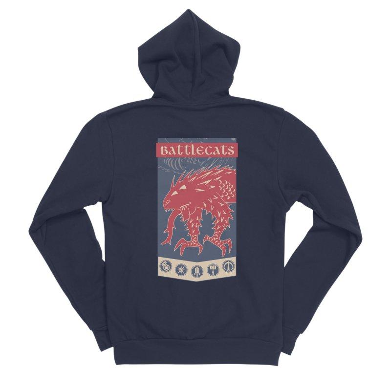 Battlecats - The Dire Beast Women's Sponge Fleece Zip-Up Hoody by MadCaveStudios's Artist Shop