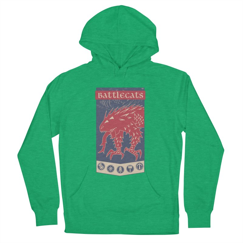 Battlecats - The Dire Beast Men's French Terry Pullover Hoody by Mad Cave Studios's Artist Shop