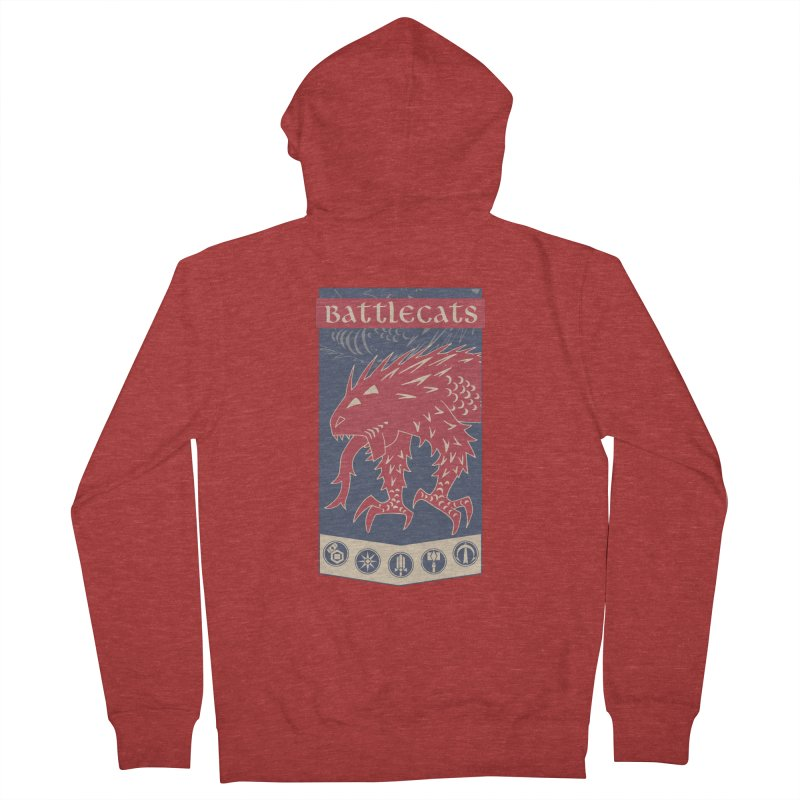 Battlecats - The Dire Beast Women's French Terry Zip-Up Hoody by MadCaveStudios's Artist Shop