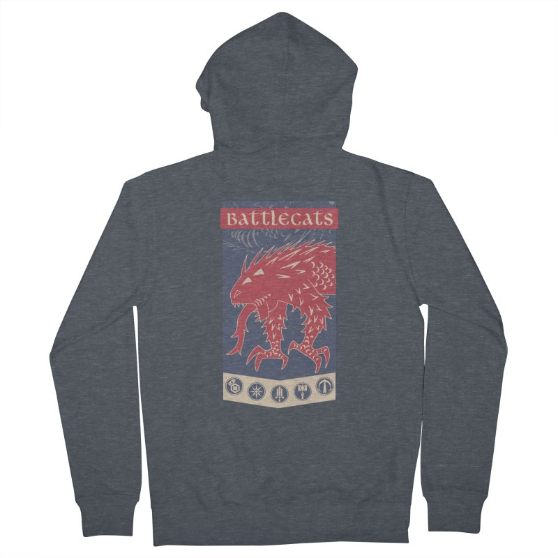 Battlecats - The Dire Beast Men's French Terry Zip-Up Hoody by Mad Cave Studios's Artist Shop