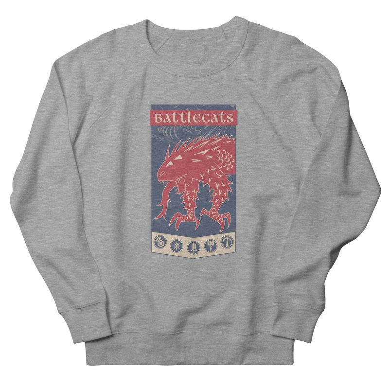 Battlecats - The Dire Beast Men's French Terry Sweatshirt by Mad Cave Studios's Artist Shop