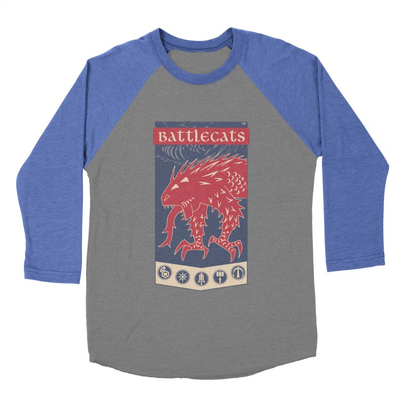 Battlecats - The Dire Beast Women's Baseball Triblend Longsleeve T-Shirt by Mad Cave Studios's Artist Shop