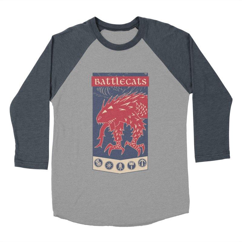 Battlecats - The Dire Beast Women's Baseball Triblend Longsleeve T-Shirt by MadCaveStudios's Artist Shop