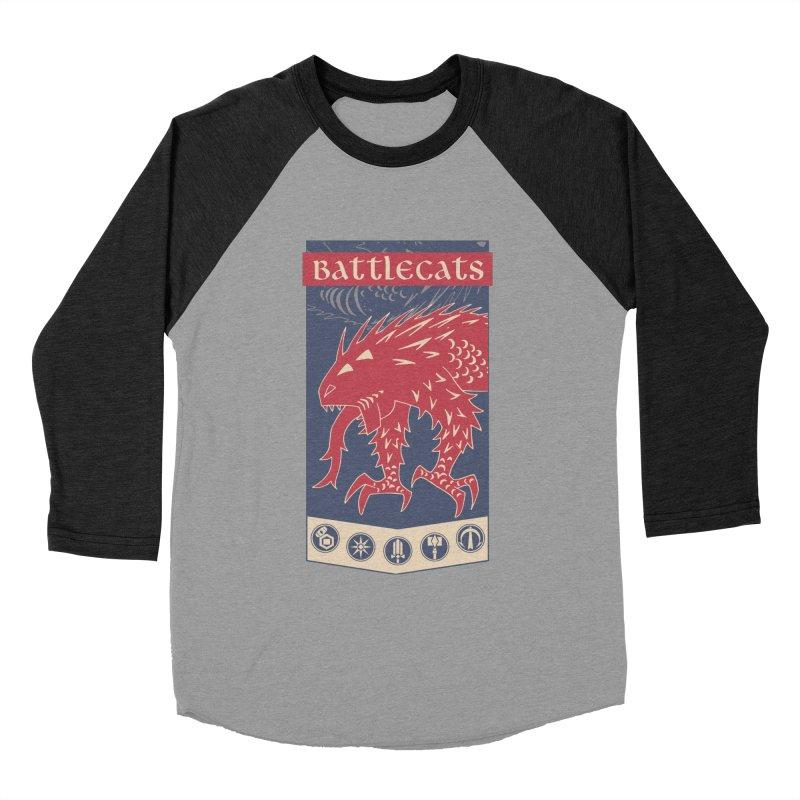 Battlecats - The Dire Beast Men's Baseball Triblend Longsleeve T-Shirt by Mad Cave Studios's Artist Shop