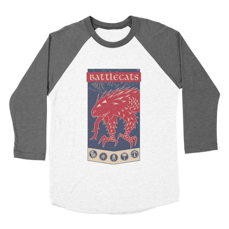 Battlecats - The Dire Beast Men's Baseball Triblend Longsleeve T-Shirt by MadCaveStudios's Artist Shop