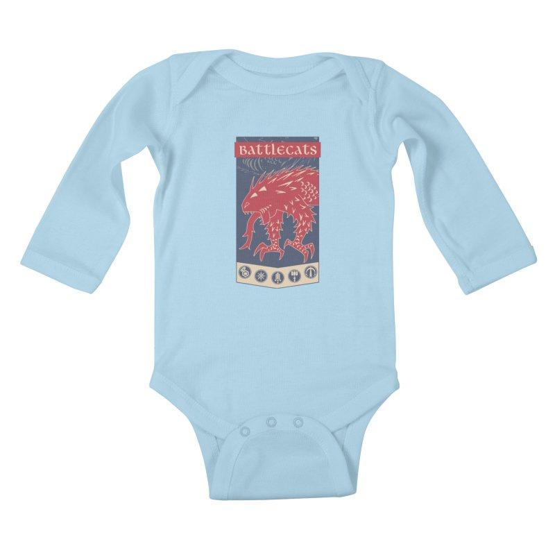 Battlecats - The Dire Beast Kids Baby Longsleeve Bodysuit by MadCaveStudios's Artist Shop