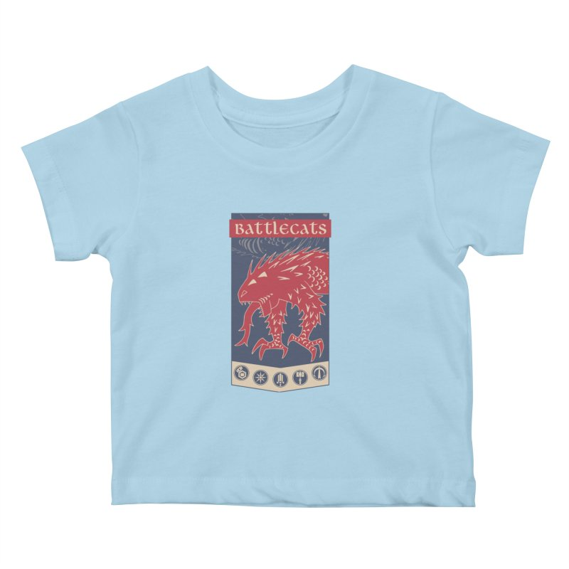 Battlecats - The Dire Beast Kids Baby T-Shirt by Mad Cave Studios's Artist Shop