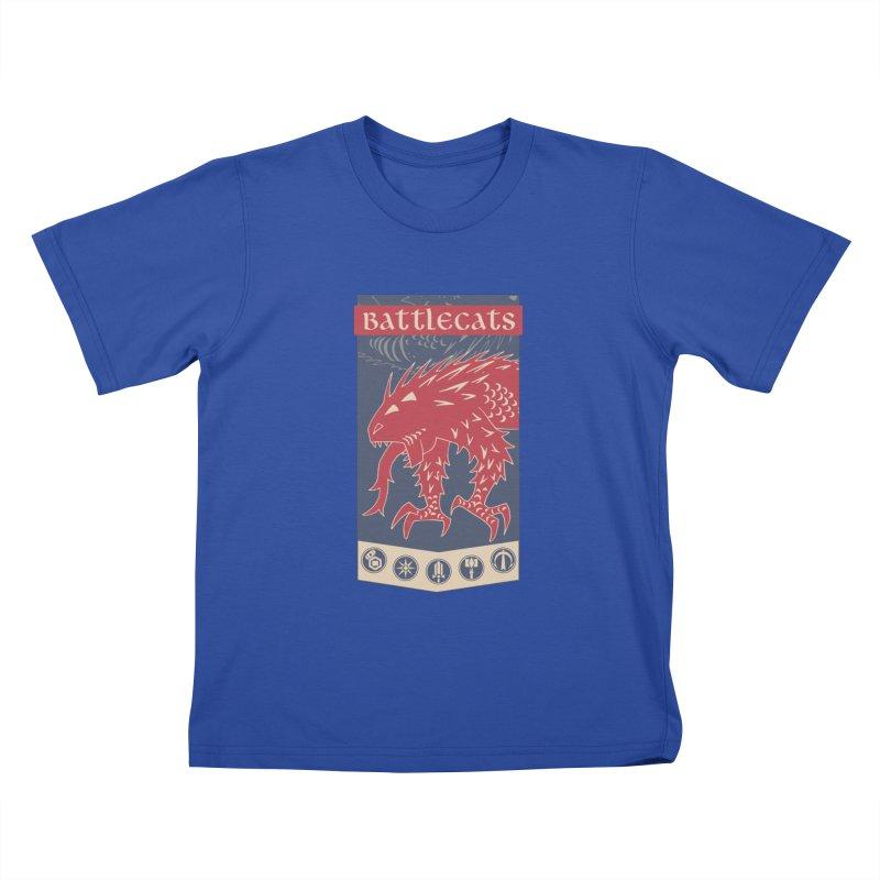 Battlecats - The Dire Beast Kids T-Shirt by Mad Cave Studios's Artist Shop