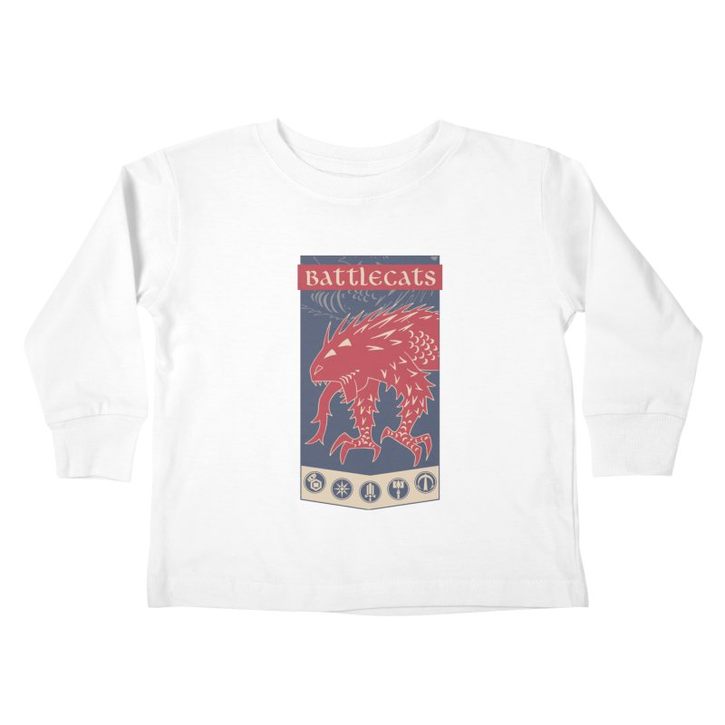 Battlecats - The Dire Beast Kids Toddler Longsleeve T-Shirt by Mad Cave Studios's Artist Shop
