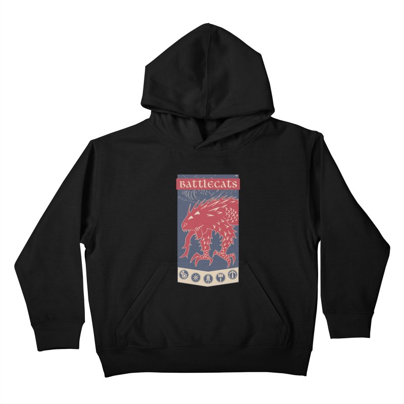 Battlecats - The Dire Beast Kids Pullover Hoody by Mad Cave Studios's Artist Shop