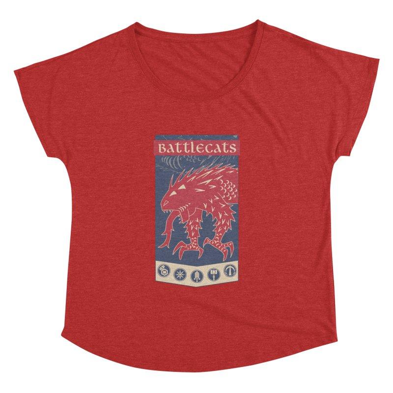 Battlecats - The Dire Beast Women's Dolman Scoop Neck by Mad Cave Studios's Artist Shop
