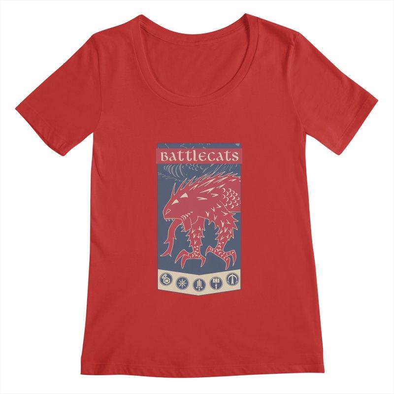 Battlecats - The Dire Beast Women's Regular Scoop Neck by Mad Cave Studios's Artist Shop