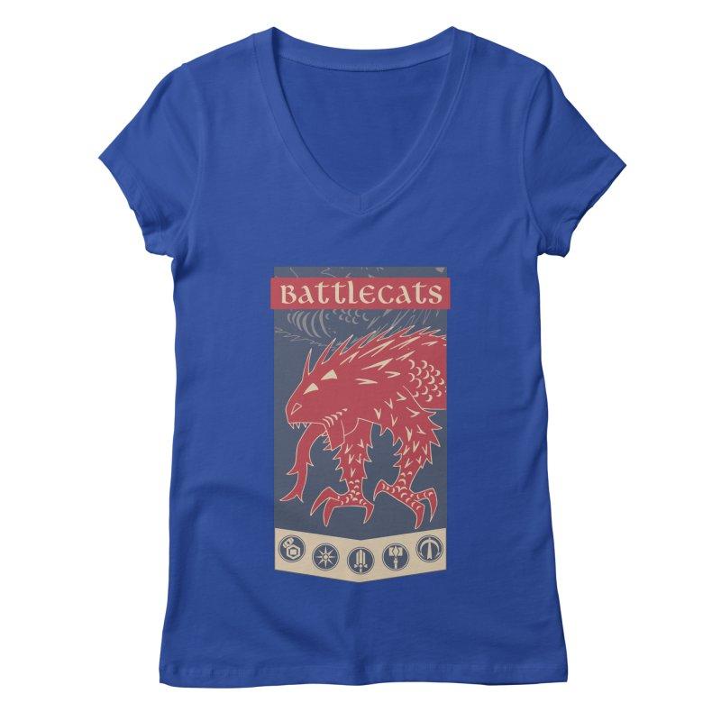 Battlecats - The Dire Beast Women's Regular V-Neck by Mad Cave Studios's Artist Shop