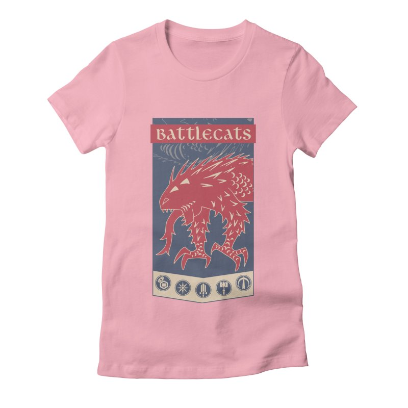 Battlecats - The Dire Beast Women's Fitted T-Shirt by Mad Cave Studios's Artist Shop