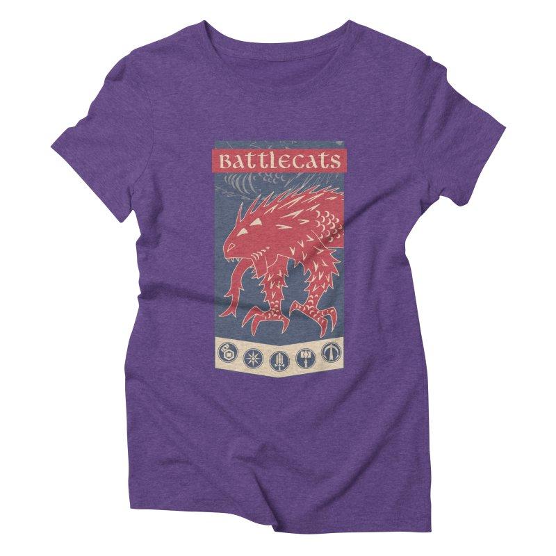 Battlecats - The Dire Beast Women's Triblend T-Shirt by Mad Cave Studios's Artist Shop