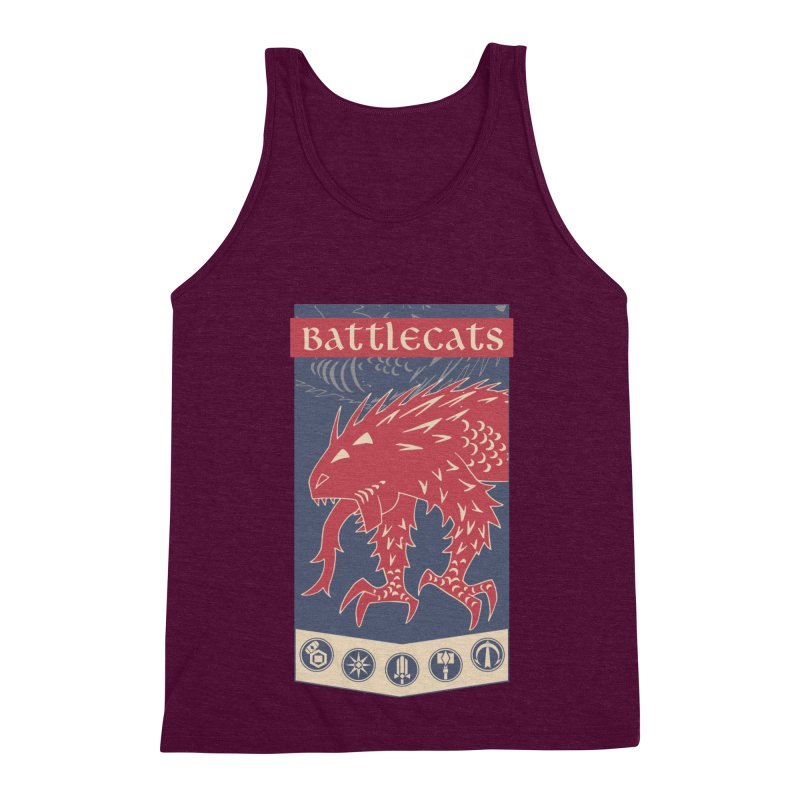 Battlecats - The Dire Beast Men's Triblend Tank by Mad Cave Studios's Artist Shop