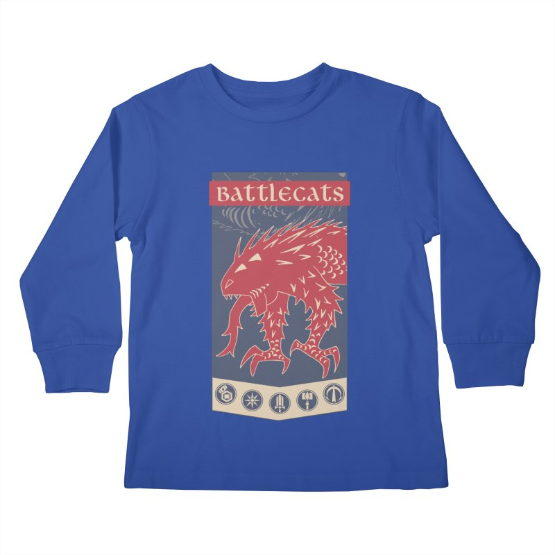 Battlecats - The Dire Beast Kids Longsleeve T-Shirt by Mad Cave Studios's Artist Shop