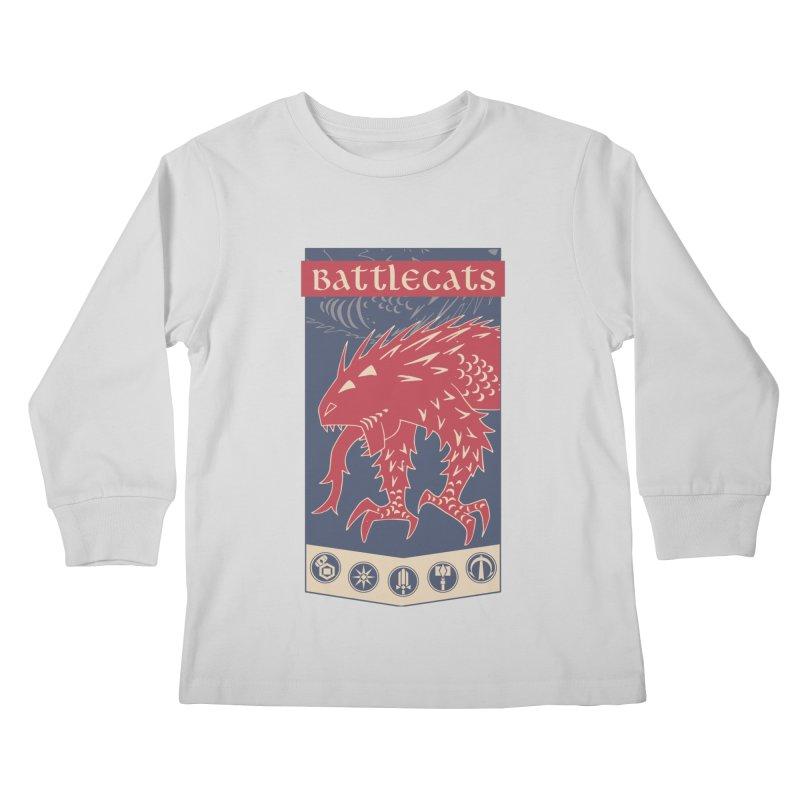 Battlecats - The Dire Beast Kids Longsleeve T-Shirt by Mad Cave Studios's Artist Shop