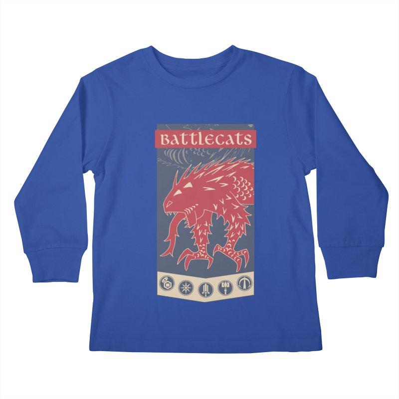 Battlecats - The Dire Beast Kids Longsleeve T-Shirt by MadCaveStudios's Artist Shop